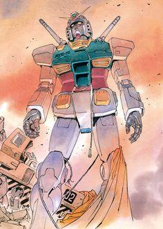 Mobile Suit Gundam: The Origin by Yoshikazu Yasuhiko is my fav manga ever! Arte Gundam, Gundam Art, Manga Art, Anime Manga, Anime Art, Anime Couples Manga, Cute Anime Couples, Anime Girls, Godzilla