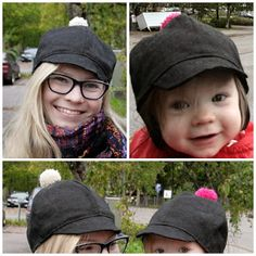 Autumn hats for me and my kid. Kids Clothes Patterns, Clothing Patterns, Sewing Hacks, Sewing Tutorials, Fall Hats, Diy Hat, Sewing Accessories, Drops Design, Sewing Techniques
