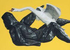Eckart Hahn, Leda, 2011, Acryl auf Leinwand, 50 x 70 cm