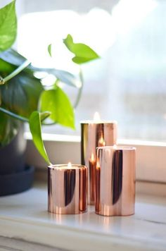 Decor – Rose Gold Guys, I came to show you these beautiful copper candles. Good to realize that Im the crazy copper is not really, but serious talk a great idea, besides giving an incredible smell gives an incredible color to the room. I loved it
