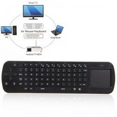 Measy RC12 Portable 2.4GHz Air Mouse + Touchpad Wireless Keyboard with Smart And $24.99