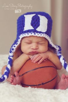 Newborn Gallery - Little Bug's Creations #Duke #basketball #crochet this will be shane and I's child