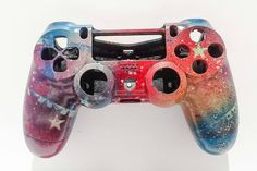 Multicolored Custom Painted Sony PlayStation 4 Dualshock Shell (2nd Generation)