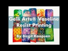 It's Birgit here today with a fun resist technique using Vaseline petroleum jelly. With this technique you can create negative prints from your stenci. Vaseline, Gelli Plate Printing, Gelli Arts, Plate Art, Paper Tags, Fabric Painting, Art Blog, Art Lessons, Making Ideas