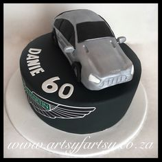 Aston Martin Cake #astonmartincake Car Cakes, Cupcake Cakes, Motorbike Cake, Cakes For Boys, Aston Martin, Cheesecake, Truck, Ford, Motorcycle Cake