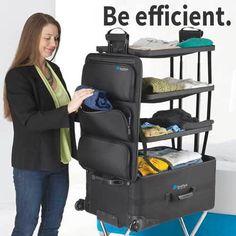 Schluss mit dem Frust beim Kofferpacken: www.lustige-gadgets.com/koffer-mit-regalen/