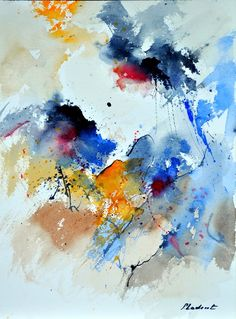 "Saatchi Art Artist: Pol Ledent; Watercolor 2014 Painting ""watercolor 119030"""