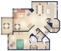 2 bedroom villa orange lake resort 300 300 resorts pinterest for Old key west 2 bedroom villa floor plan