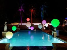 3' color changing pool lights. Light Up Balloons, Balloon Glow, Balloon Painting, Balloon Delivery, Central Florida, Balloon Decorations, Corporate Events, The Magicians, Jay