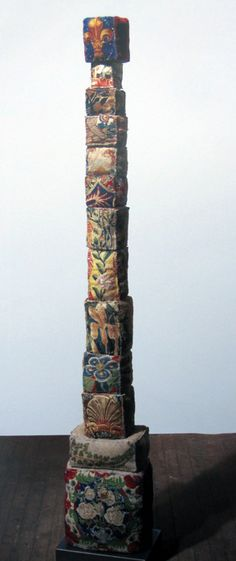 Never knew she did this type of work - Louise Bourgeois's eight foot high fabric tower. Untitled, 2001.