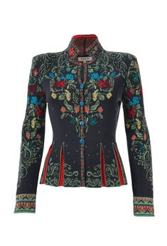 Jacquard Jacket with Pleats - Jacket | Ivko Woman