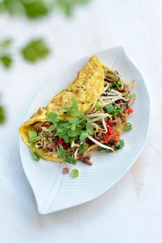 Feel Good Food, I Love Food, Omelet, Oriental Food, Yummy Food, Tasty, Asian Cooking, Lunches, Food Inspiration