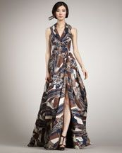 Rachel Zoe  Sasha Printed Gown