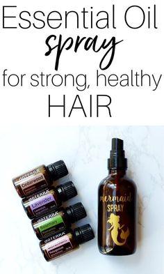 Essential Oils For Headaches, Essential Oils For Hair, Doterra Essential Oils, Essential Oil Spray, Oil For Hair Loss, Leave In, Hair Essentials, Pelo Natural, Natural Hair