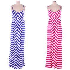 "Striped Maxi Dresses Adjustable straps.  55"" long  $36 S•M•L Follow us on Instagram! ""Shophellodarling"""