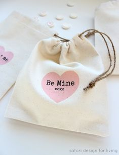 Surprise your loved ones with these DIY Valentine's Day treat bags. The iron-on transfer printables can be customized and are so fun to do!