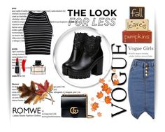 """The look for less"" by dinna-mehic ❤ liked on Polyvore featuring Gucci, Anne Klein and romwe"