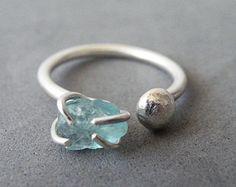 Unusual aquamarine ring