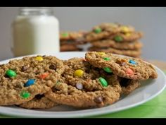 Monster Gluten Free M&M Cookies - YouTube