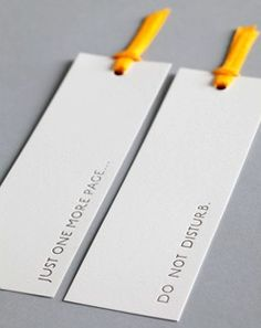Love how simple these are #letterpress #bookmarks