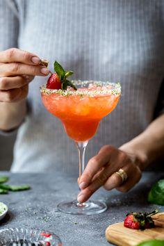 ~ Strawberry Champagne Margaritas ~