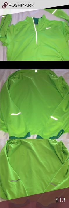 Nike dri-fit running pullover Neon green running top with reflectors on sleeves. Nike Other https://sites.google.com/site/coolshoes2k/shoes1