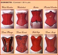 corset training not-a-single-fuck: Types of corset - corset Vintage Corset, Vintage Lingerie, Corset Sewing Pattern, Corset Costumes, Fashion Vocabulary, Waist Trainer Corset, Lace Tights, Waist Training, Mode Vintage