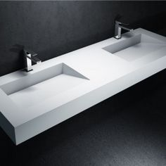 Plan double vasque Corian® Tennessee
