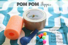 DIY Pom Pom Popper