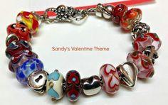 Our customer's bracelet!  <3  Miss Sandy sure does love her hearts <3 <3 <3 #trollbeads #trollbeadsusa #ooak