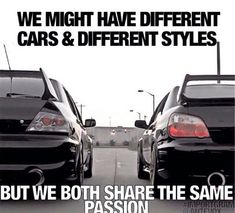 Much love to the Evo. From Subaru love.