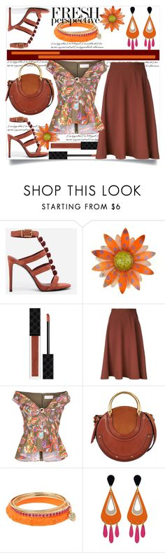 """""""Fresh Perspective"""" by helenaymangual ❤ liked on Polyvore featuring CHARLES & KEITH, Gucci, Estnation, Peter Pilotto, Chloé and Betsey Johnson"""