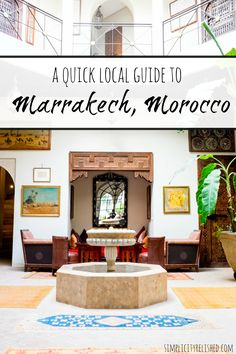 Going to Morocco? Marrakech is its famous art and culture capital. Check out this local guide for where to stay, what to see and what to do! | A Quick Guide To Marrakech, Morocco #marrakech #morocco #travel