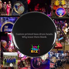 Why leave your head blank, when you can do this. Custom Bass, Drum Heads, When You Can, Blue Moon, Poker Table, Drums, Bass Drum, Prints, Full Moon