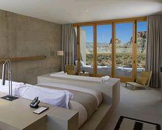 ::: 7. Platz Amangiri Spa - GF Luxury::: Die wohl schönste Oase in der Wüste ist das Amangiri Spa, das Teil des Aman Resorts im südlichen Teil des Amerikanischen Bundesstaats Utah ist. Einen Blick, der unbeschreiblich und atemberaubend ist, bietet sich einem hierbei von fast jedem Zimmer und von jedem Teil des Spas aus.