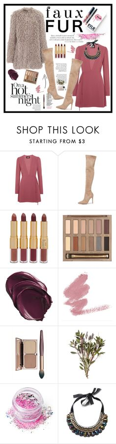 """""""Faux Fur Coats 1"""" by cindy88 ❤ liked on Polyvore featuring Kylie Cosmetics, Pancracio, Reformation, Kendall + Kylie, tarte, Urban Decay, In Your Dreams, Caudalíe and fauxfurcoats"""