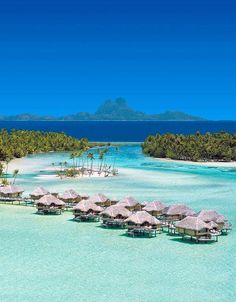 Fascinating view of Bora Bora island, French Polynesia