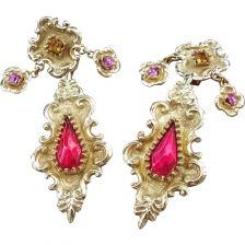 christian lacroix earrings Famous French, Jewelry Design, Designer Jewelry, Absolutely Fabulous, Christian Lacroix, Magenta, Costume Jewelry, Jewelry Making, Brooch