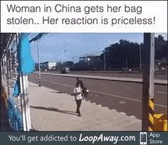 """""""Oh, you stole my bag? I'll take your motorcycle then."""""""