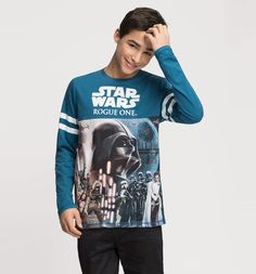 Frontimage view Star Wars Langarmshirt in multicolour print