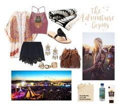 """#packforcoachella"" by neonaila on Polyvore featuring Jack Rogers, Diane Von Furstenberg, Lavanila, The Beach People, Theodora & Callum, Glamorous, Chloé, Leslie Danzis and Boohoo"