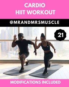 Sweat with us, Melt the Fat and BURN loads of calories in this fun and intense 10 minute Cardio HIIT Workout! --- Sweat with us, Melt the Fat and BURN loads of calories in this fun and intense 10 minute Cardio HIIT Workout! Kardio Workout, Hiit Workout Videos, Intense Cardio Workout, Full Body Hiit Workout, Cardio Workout At Home, Cardio Training, Gym Workout Tips, Fitness Workout For Women, Workout Challenge