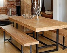 Reclaimed Industrial Chic X End 6-8 Seater Solid by RccFurniture
