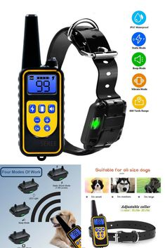 Shock Collar For Dogs 2500 Foot Dog Training Collar For Large Dog Or Small Dog Dog Shock Collar with Remote Waterproof LCD Display Luminescent Collar USB Charging Dog Training Tools, Best Dog Training, Large Dogs, Small Dogs, Dog Shock Collar, Training Collar, Best Dogs, Collars, Remote