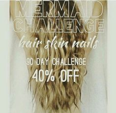 Do you want long hair?  Mermaid hair challenge, with product at 40% off !!!!!   Message me or comment below    #longhair #stronghair #itworks #itworksglobal #newadventure #90daychallenge #itdoeswork #loyalcustomer #hsn #hairskinandnails