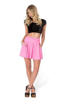 Matte Pink Pocket Skater Skirt by Black Milk Clothing $60AUD ($55USD)