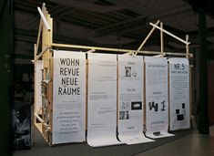 Hanging paper info panels - Inexpensive and changeable over time - exhibition design Exhibition Stand Design, Exhibition Display, Exhibition Space, Museum Exhibition, Environmental Graphics, Environmental Design, Display Design, Booth Design, Shoe Display