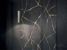 Kasai - Burnt Wood Effect Tiles Traditional Japanese Art, Japanese Design, Kintsugi, Wood Effect Tiles, Unique Tile, Outdoor Flooring, Wood Texture, Porcelain Tile, Decoration