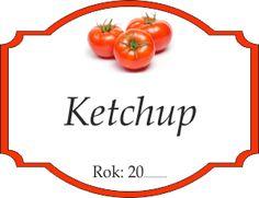 Naklejka na ketchup Ketchup, Clip Art, Printables, Dance, Decoration, Christmas, Tags, Pictures, Label Tag