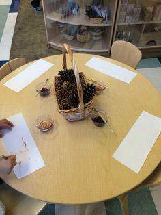 Thanksgiving/harvest season- pine cone still life painting